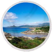 Co Kerry, Ring Of Kerry, Castlecove Round Beach Towel