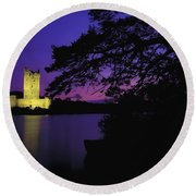 Co Kerry, Ross Castle, Killarney Round Beach Towel