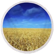 Co Louth,irelandwheat Field Round Beach Towel