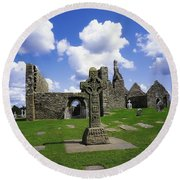 Co Offaly, Clonmacnoise Round Beach Towel