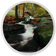 Co Wicklow, Ireland Waterfalll Near Round Beach Towel