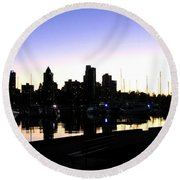 Coal Harbour Round Beach Towel by Will Borden