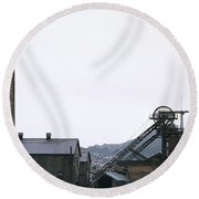 Coal Mine Round Beach Towel