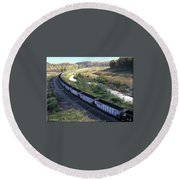 Coal Train - Johnstown  Round Beach Towel