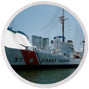 Coast Guard History  Round Beach Towel