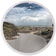 Coastal Bend Round Beach Towel