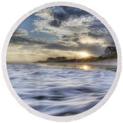 Coastal Currents Round Beach Towel
