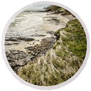 Coastal Grass Round Beach Towel