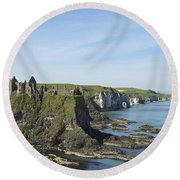 Coastal Seascape Round Beach Towel