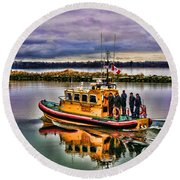 Coastguard Hdr Round Beach Towel