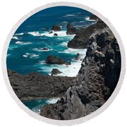 Coastline Round Beach Towel