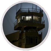 Cob Speicher Control Tower Round Beach Towel by Terry Moore