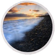 Cobblestone Sunset Round Beach Towel