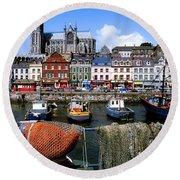 Cobh, Co Cork, Ireland, Cobh Cathedral Round Beach Towel