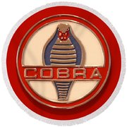Cobra Emblem Round Beach Towel