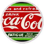 Coca-cola  Relieves Fatigue Round Beach Towel