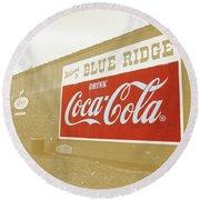 Coca-cola Sepia Round Beach Towel