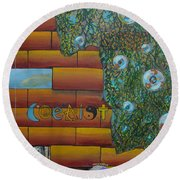 Coexist Round Beach Towel
