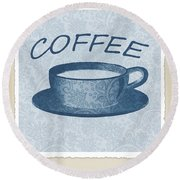 Coffee 1-2 Scrapbook Round Beach Towel