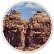 Coffee Pot Rock Formation Round Beach Towel