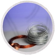 Coiled Wires Round Beach Towel