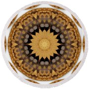 Coins And Love Con Pasta Round Beach Towel by Pepita Selles