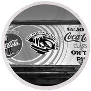 Coke At The Pier Round Beach Towel