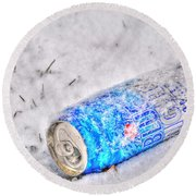 Cold One Round Beach Towel