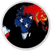 Cold War Map Round Beach Towel
