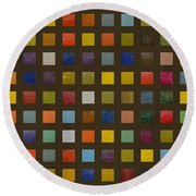 Collage Color Study Lll Round Beach Towel