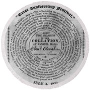 Collation Ticket, 1824 Round Beach Towel