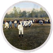 College Footbal Game, 1889 Round Beach Towel