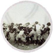 College Football Game, 1905 Round Beach Towel