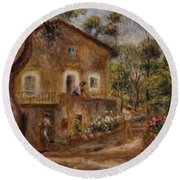 Collette's House At Cagne Round Beach Towel