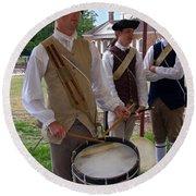 Colonial Drummer Round Beach Towel