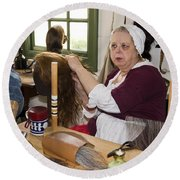 Colonial Wigmaker Round Beach Towel
