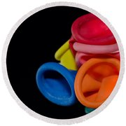 Color Balloons Round Beach Towel