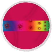 Color Chart One Round Beach Towel