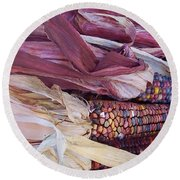Color Corn Round Beach Towel