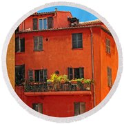 Color In Provence Round Beach Towel