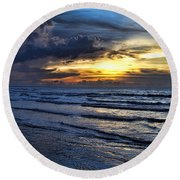 Color Of Light V2 Round Beach Towel