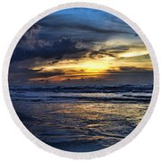 Color Of Light V3 Round Beach Towel