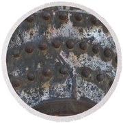 Color Of Steel 7a Round Beach Towel
