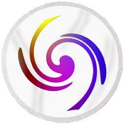 Color Spiral Round Beach Towel