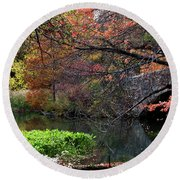 Color Splash In Central Park Round Beach Towel