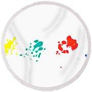 Color Splash Round Beach Towel