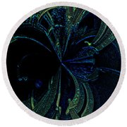Color Study 02 Green Blue Round Beach Towel