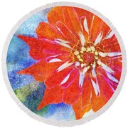 Color Symphony IIi Round Beach Towel