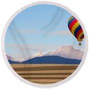 Colorado Ballooning Round Beach Towel