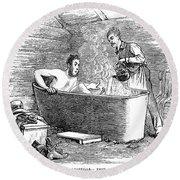 Colorado Bathhouse, 1879 Round Beach Towel